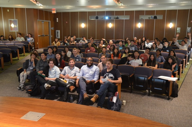 Crowd at final presentations