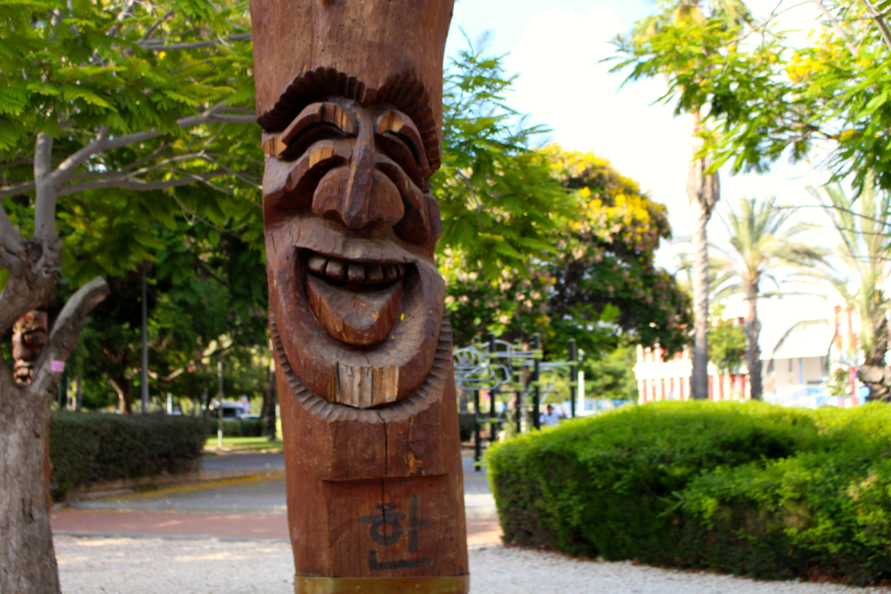 laughing totem pole